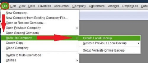 QuickBooks Company File Backup | QuickTips News | Rea CPA