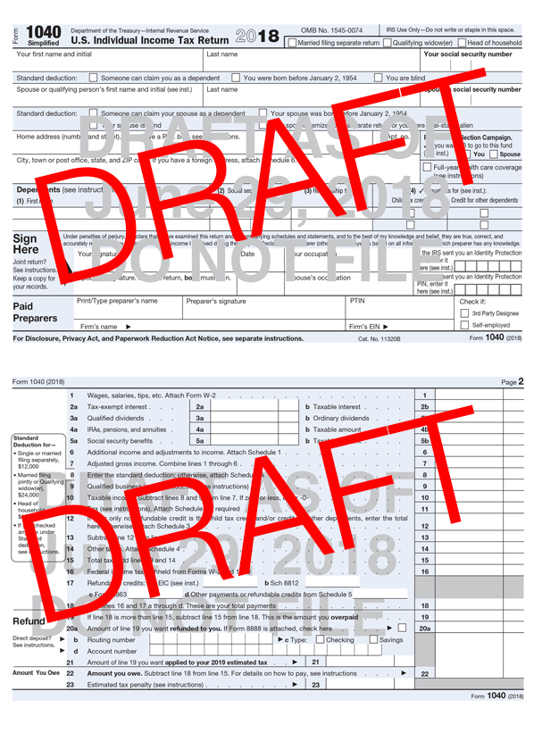 New Form 1040 | Taxes Simplified | New Schedules | Rea CPA