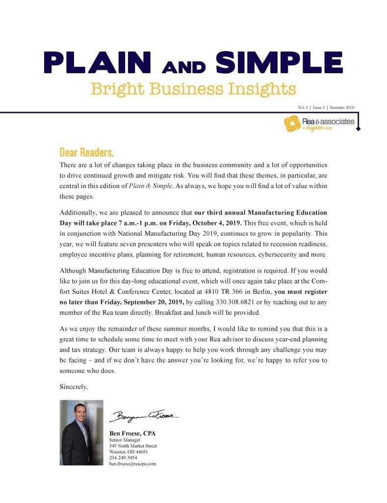 Plain & Simple | Summer 2019 | Ohio CPA Firm