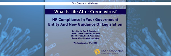 HR Compliance In Your Government Entity | COVID-19 Crisis | Ohio CPA Firm