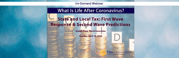 State and Local Tax Issues | COVID-19 Crisis | Ohio CPA Firm