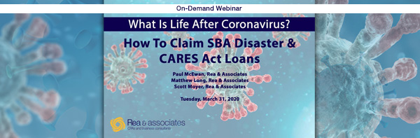 How To Claim Disaster & CARES Act Small Business Loans | On Demand Webinar | Ohio CPA Firm