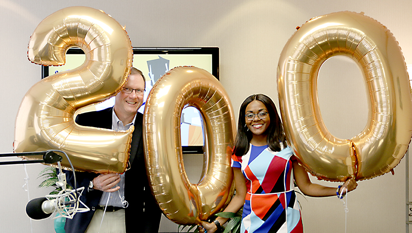 Award-winning business and financial services podcast releases it's 200th episode.