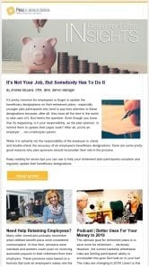 Retirement Plan Insights | Newsletter | Ohio CPA Firm