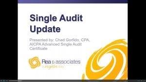 Single Audit Update | Webinar Recording | Ohio CPA Firm